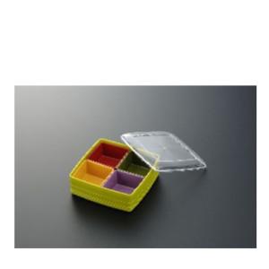 Pote Plástico c/ 4 Divisórias-INO-1077B-INOMATA