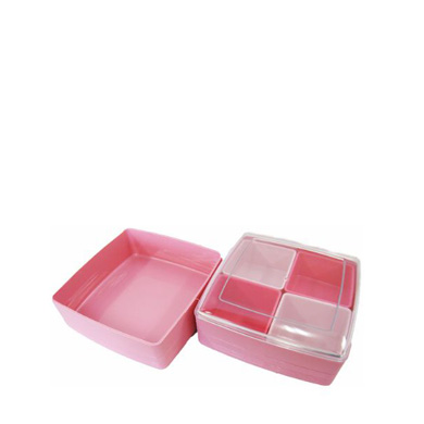 Pote Plástico Duplo com 4 Divisórias-INO-1078A-INOMATA