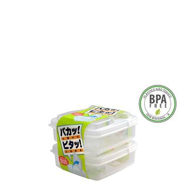 Pote Plástico c/ Tampa Dobrável Mod. L4 2 x 250ml K-194  NAKAYA