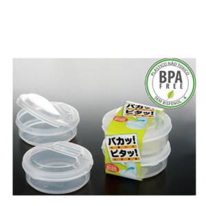Pote Plástico c/ Tampa Dobrável Mod. L5 2 x 210ml K-195 NAKAYA