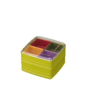 Pote Plástico Duplo com 4 Divisórias-INO-1078B-INOMATA